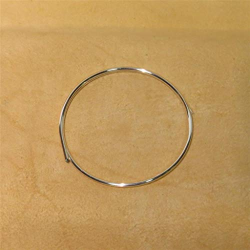 Golden State Silver 99.99% Pure Silver 12 Gauge (0.080 in. / 2.03 mm) Wire - 12 inch Coil (1 Foot) - Guaranteed 99.99%+