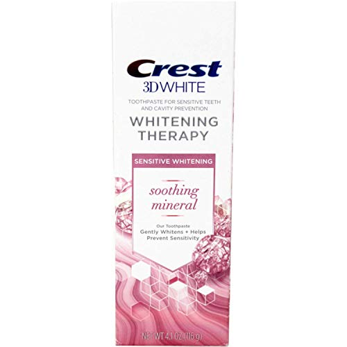 Crest 3D White Whitening Therapy Sensitivity Care Fluoride Toothpaste 4.1 oz (Pack of ()