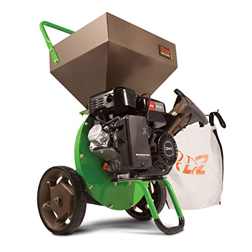 Earthquake TAZZ 30520 Heavy Duty 212cc Gas Powered 4 Cycle Viper Engine 3:1 Capable Multi-Function Wood Chipper Shredder 3' Max Wood Diameter Capacity, 5 Year Warranty