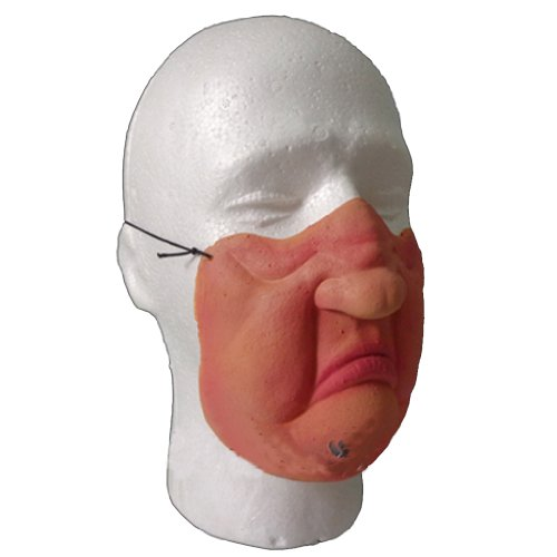Half face Funny Halloween Party Cosplay Masks (angry) -