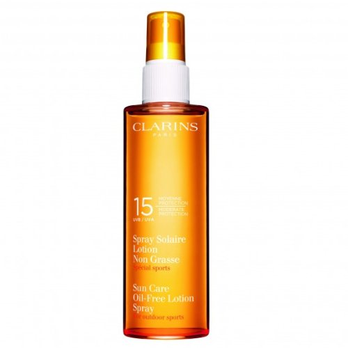 Clarins Oil-Free SPF 15 Moderate Sun Care Protection Lotion Spray, 5 Ounce