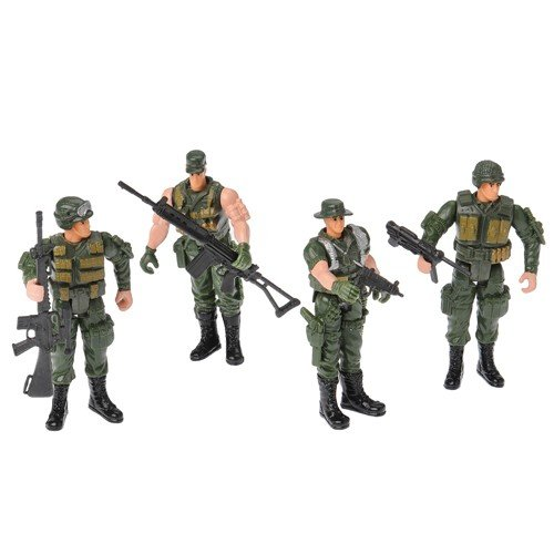 Price comparison product image Poseable Soldiers,  Set of 12 (Four Assorted Poses)
