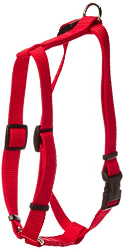 Pet Adjustable Nylon Dog Harness - Coastal Pet Products DCP6643RED Nylon Standard Adjustable Dog Harness, Medium, Red
