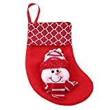 Xeminor Premium Quality Christmas Stockings Hangers,Xmas Gift Socks Bags,Christmas Holiday Stockings,Red Snowman Style