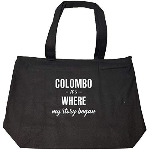 Colombo Zip - Colombo It's Where My Story Began Cool Gift - Tote Bag With Zip