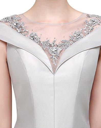 Erosebridal Abendkleid Perlen Blau Bodenlangen Navy Elegante Bankett Brautjungfernkleider BnBrHCx