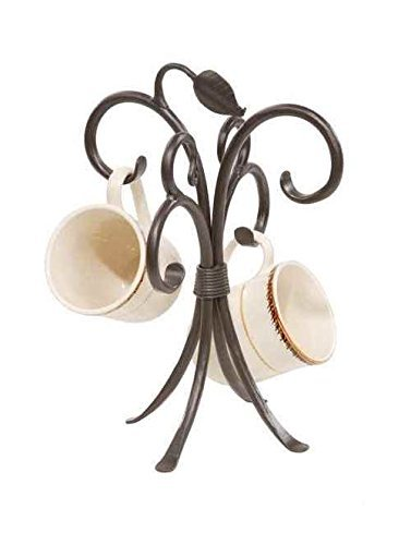 Stone Country Ironworks 205751-OG-142822-O-759570 Sassafras Mug Rack Antique Copper