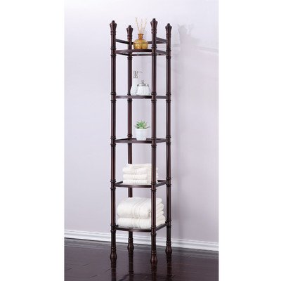 Monte Carlo 14'' x 67'' Bathroom Tower Shelf Finish: Oil Rubbed Bronze by Fox Hill Trading