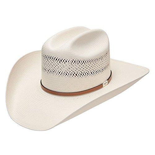 Resistol Leather - Resistol Mens 10X Straw Cowboy Hat 71/4 Natural