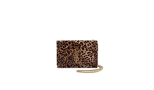 27f4033c2a45 Saint Laurent Kate Monogram YSL Small Leopard-Print Velvet Crossbody Bag  made in Italy  Handbags  Amazon.com
