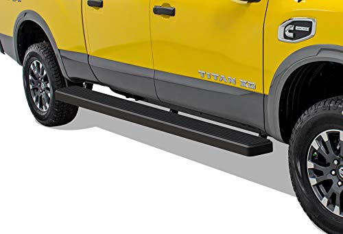 (APS iBoard (Black Powder Coated 6 inches Wheet to Wheel) Running Boards | Nerf Bars | Side Steps | Step Rails for 2004-2019 Nissan Titan Crew Cab Pickup 4-Door 6ft Bed & 16-19 Titan XD)