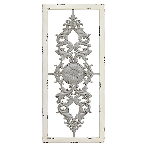 Stratton Home Decor Scroll Panel Wall Decor, Grey