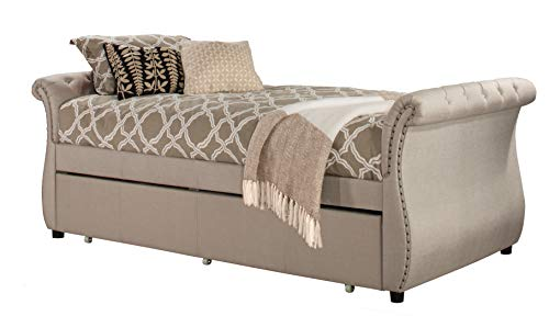 Hillsdale Bedroom Sleigh Bed - Hillsdale Furniture 2005DBT Hunter Backless Daybed with Trundle Twin Linen Sandstone