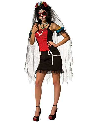 Senorita Costume Makeup (Rubie's Costume Co. Women's Senorita Muertos Costume, As Shown, Standard)