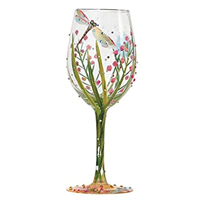 Lolita Dragonfly Summer Artisan Painted Wine Glass Gift