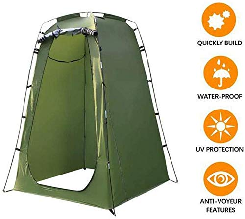 BDLeKing Shower Privacy Toilet Tent,Outdoor Privacy Tent Shower, Waterproof Portable Changingom With Window For Camping…