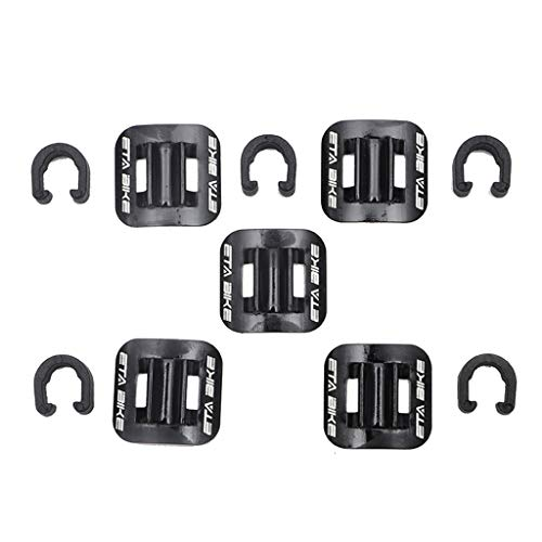 Fixed Reel Seat -  Orcbee  _5Pcs Bicycle Brake Cable Fixed Clamp Conversion Seat MTB Bike Oil Tube Frame (Black)