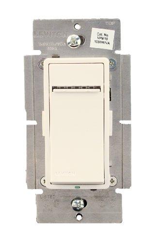 Leviton VPM10-1LZ, Vizia + Digital 1000W Incandescent/1000VA Magnetic Low Voltage Dimmer, Single Pole and 3-Way, White/Ivory/Light Almond