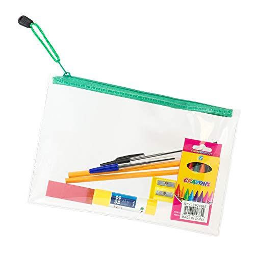 Bulk Case Bundle of 48 Kits - 12 Piece Wholesale School Supplies Kit for Students, Teachers, Back to School Drives ()