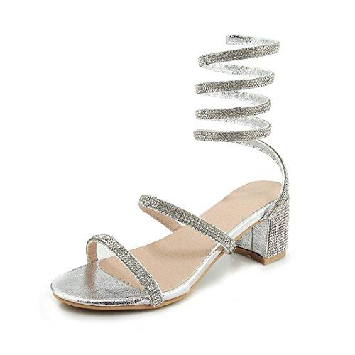 l'impronta sandali trentotto diamante signore sandali heeled argenteo sandali violento i e moda dei sandali high r6r7vwnT