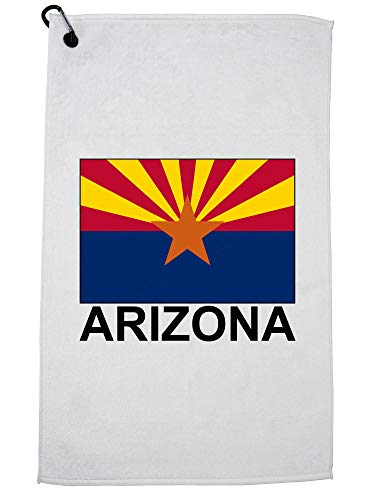 Hollywood Thread Arizona State Flag - Special Vintage Edition Golf Towel with Carabiner Clip