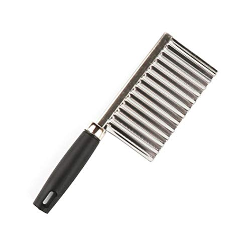 Potato Wavy Edged Knife Stainless Steel Kitchen Gadget Vegetable Fruit Cutting Peeler Cooking Tool Accessories (B)