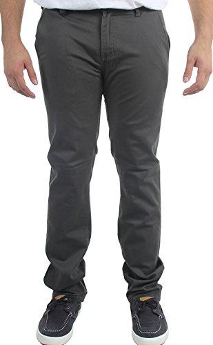 KR3W Men's K Slim Chino Pants,Charcoal,30