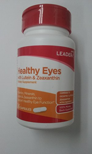 Leader Healthy Eyes with Lutein & Zeaxanthin, 36 Capsules Per Bottle (12 Pack) by Leader