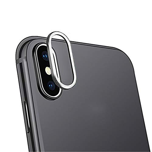 SHL 9H Hardness Back Camera Lens Tempered Glass Film Protector Cover For iPhone XS Max 6.5 inch (Silver)