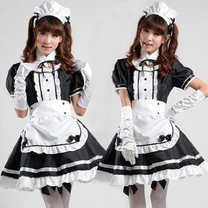 Moe Moe! Pretty maid cafe classic Gothic Halloween Costume XL size (japan import) (Halloween Costume 1012)