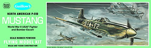 - Guillow's North American P51D Mustang Model Kit
