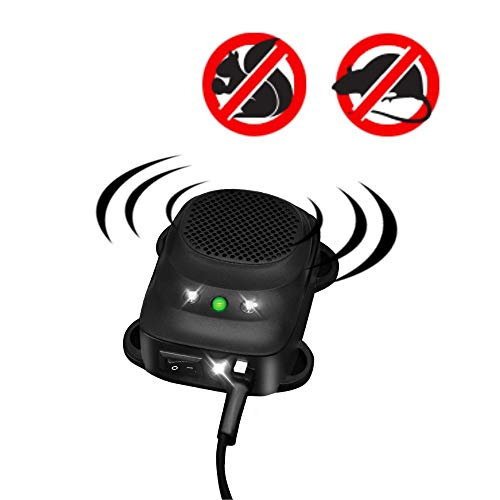Loraffe Under Hood LED Rodent Strobe Light and Ultrasound Device Vehicle Protection for Automotive Lights to Keep Away Rats from Your Car Engine Garage