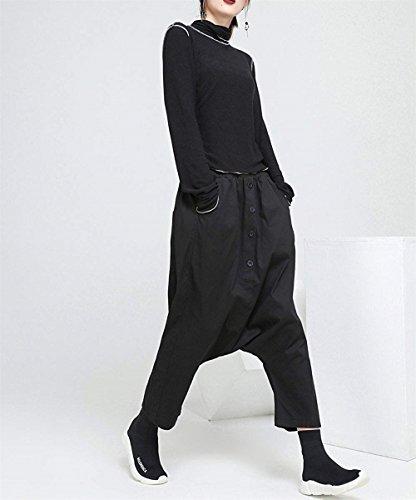 Pantaloni Harem Elegante Lunga Libero Elasticit Pantaloni Donna Tempo YxPtdO