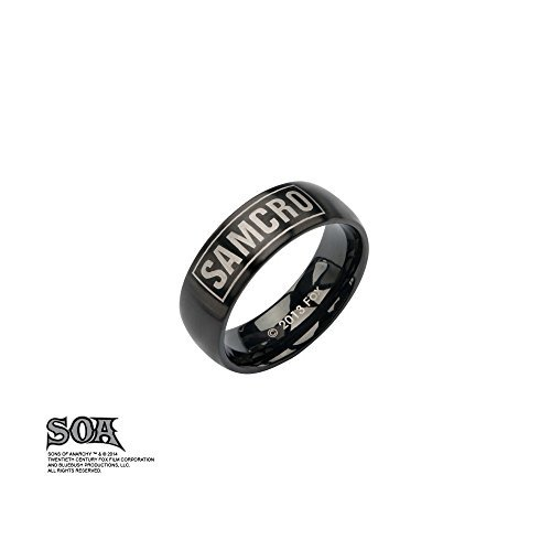 Sons Of Anarchy Stainless Steel Samcro Ring (Black, Size 11) ()