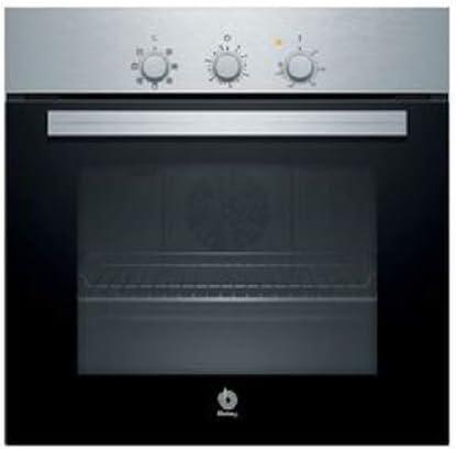 Balay, 3HB2010X0, Horno, A, 60 cm, 0,79 kWh/ciclo convencional, Acero inoxidable, Inox blanco, Cooking 3D, 5 funciones, Avisador de paro de cocción