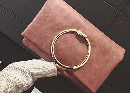 YCMDM Donna Primavera nuovo round della busta del sacchetto di modo sacchetto di spalla classico Messenger Bag , pink