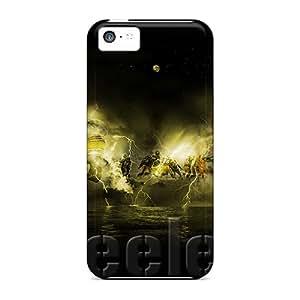 AlissaDubois Iphone 5c High Quality Hard Cell-phone Case Custom Realistic Pittsburgh Steelers Skin [SzW4273vRLs]