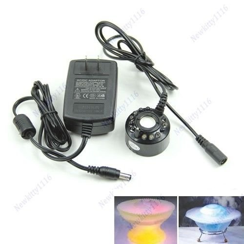 AISme HOT Ultrasonic 12 LED Mist Maker Fogger Water Fountain Pond