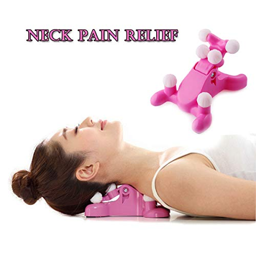 Traction Head - Cervical Pillow Neck and Head Pain Relief Back Massage Traction Device SupportRelaxer,Headache Relief, 6 Triggers Point Therapy, Hands-Free Device Sore Muscles, Improved Mobility Improves neck muscle
