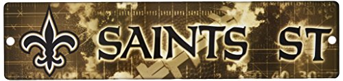 NFL New Orleans Saints High-Res Plastic Street Sign