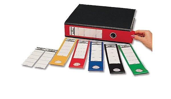Resistente Ordofix auto-adhesiva etiquetas lomo de PVC para archivadores de palanca rojo Batería de ion de litio 8090/03 [unidades 10]: Amazon.es: Oficina y ...