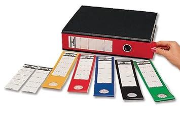Resistente Ordofix auto-adhesiva etiquetas lomo de PVC para archivadores de palanca varios colores 8090/00 [unidades 10]: Amazon.es: Electrónica