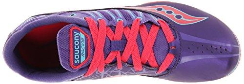 Pink 10 Spitfire Purple Spike Shoe Track US Women's M Racing Pink Purple Saucony qAa085