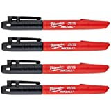 Milwaukee 48-22-3104 Inkzall Point Marker, Fine, Black, 4-Pack