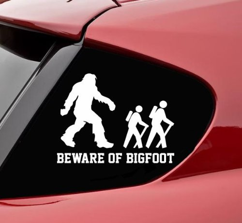 Beware of Bigfoot Sasquatch Vinyl Decal Sticker