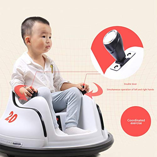 OFEFAN⭐ Baby Bumper car, Ride On Toy Car with Safety Belt, Ride On Bumper Car with Simplified Joystick Controls, Anti-Flat Tires, Spin 360 Degrees, Easy to use - No Assembly, for Boys Girls (White)