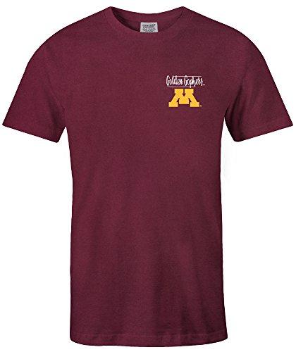 NCAA Minnesota Golden Gophers Adult Unisex NCAA Sketchbook Comfort Color Short sleeve T-Shirt, Large,Maroon