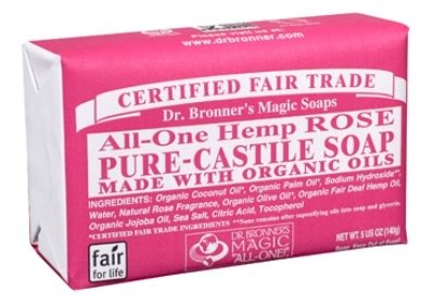 Dr. Bronner'S Organic Bar Soaps Pure Castile 1 ALMOND. Warm, comforting and slightly sweet - like marzipan or amaretto! Our Almond Pure-Castile Bar Soap is made with certified fair trade ingredients and organic hemp oil for a soft, smooth lather that won't dry your skin GENTLE SOAP. This moisturizing bar soap offers organic and vegan ingredients for a rich, emollient lather. It is ideal for washing your body or face. With no synthetic detergents or preservatives, you can nourish your skin with every wash MULTI-USE. This multi-use bar soap can be used on its own as a traditional body or face scrub, or you can dilute it in various recipes for anything from a pest spray to laundry wash. This gentle, yet powerful soap is the ultimate multi-use cleaner