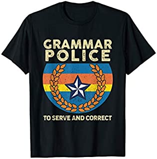 Cool gift Grammar Police Tshirt Funny Grammar Police  Women Long Sleeve Funny Shirt / Navy / S - 5XL