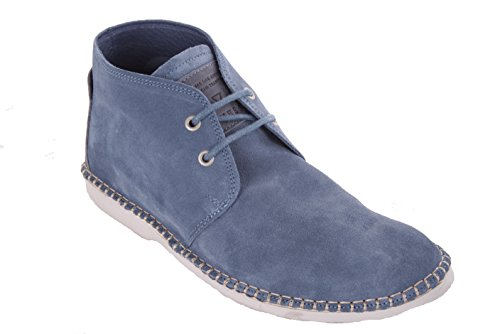 Acho Homens Lace Boots Ankle Boots Azul